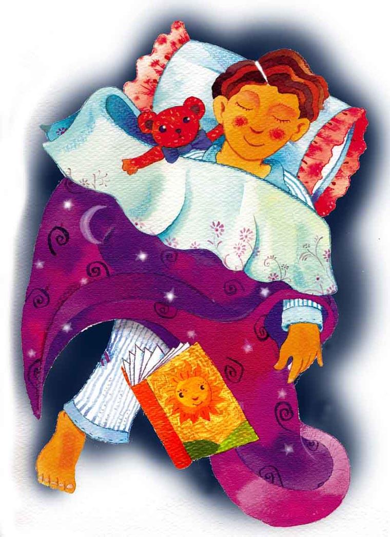 Niño durmiendo. Dibujo de Julio Granados