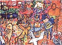 Fragmento de mural de Jorge Cuello