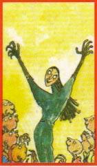 """Dibujo de Quentin Blake para la portada de """"Las brujas"""", de Roald Dahl"""