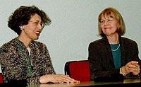 Kimete Basha (izq.) y Leena Maissen (der.)