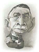 Caricatura de Don Severo Vaccaro, realizada por Hugo Villarreal en el año 2003.