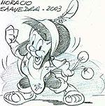 Dibujo de Horacio Saavedra