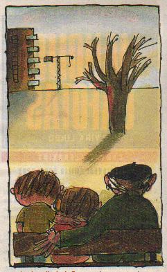 """Ilustración de Emilio Urberuaga para """"Manolito Gafotas"""""""