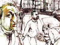 Fragmento de un dibujo de Rodolfo Fucile