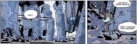 """Fragmento de la historieta """"El cuerno escarlata"""""""