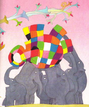 Ilustración de Elmer