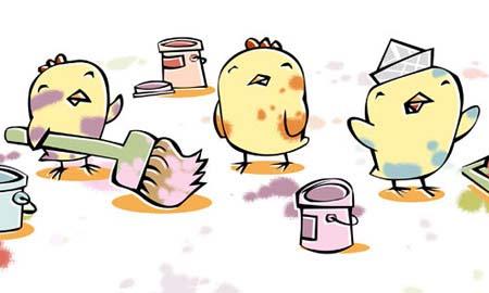 Dibujos de pollitos tiernos animados - Imagui