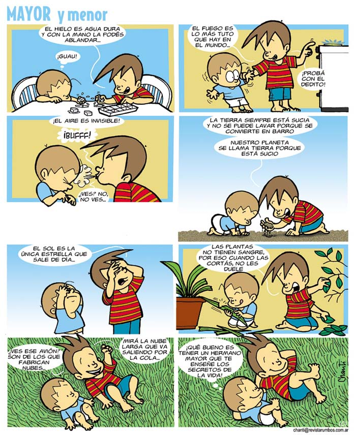 MAYOR y menor: dos hermanos en cuadritos - Imaginaria No. 205 - 25 ...